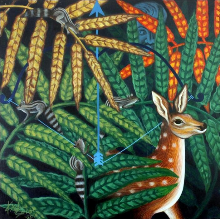 Kishore-Sahoo-Oblivious-Acrylic-on-Canvas-Painting-EK-15-0025-AC-0001-35.4x35.4.jpg