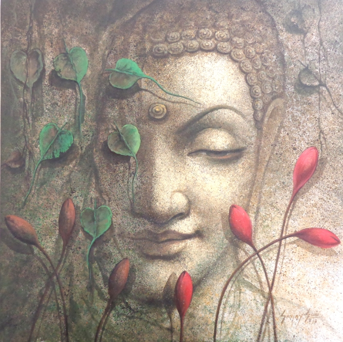 Sanjay-Soni-I am-One-Acrylic-on-Canvas-Paintings-EK-15-0030-AC-0002-30x30.jpg