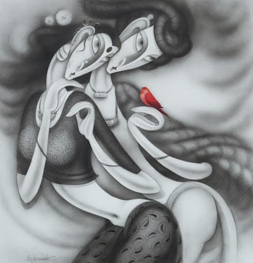 Ramesh-Pachpande-Songs-of-love-Charcoal-on-Paper-Painting-EK-15-0014-CH-0003-36x36-250000
