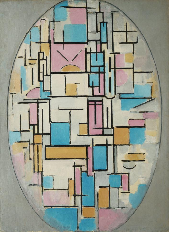 piet-mondrian-dutch-1872-1944-composition-in-oval-with-color-planes-1-1914-oil-on-canvas-42-38-x-3122-107-6-x-78-8-cm