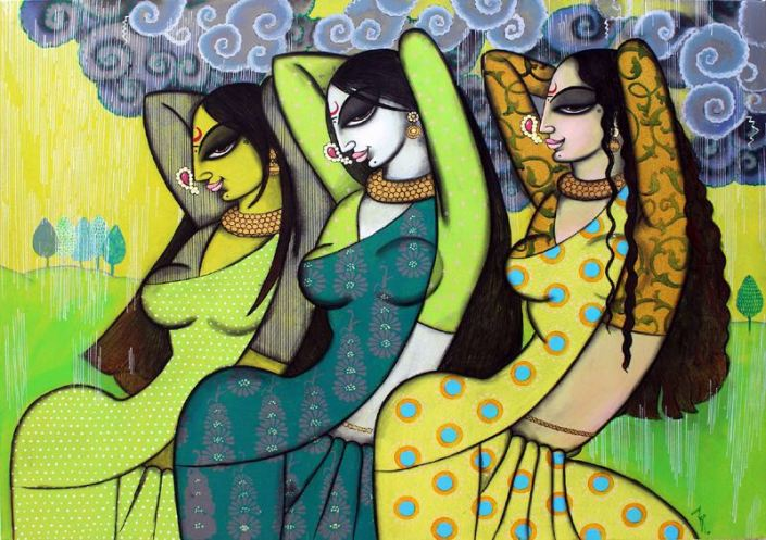 "Varsha-Kharatmal-She-Rested-30""-x-40""-Surrealism-Painting-EK-16-0060-AC-0009.jpeg"