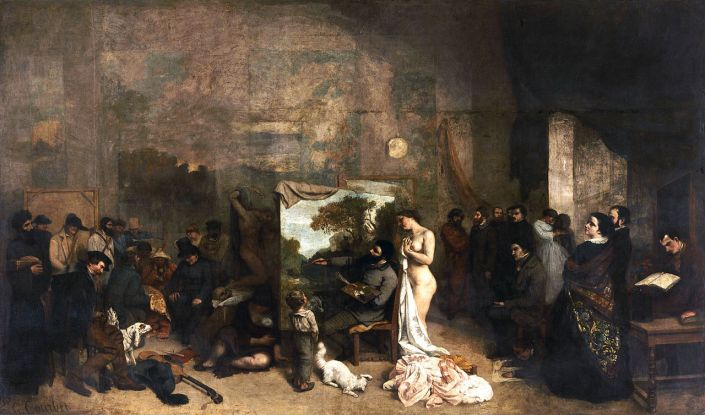 Courbet_The painters studio_1855
