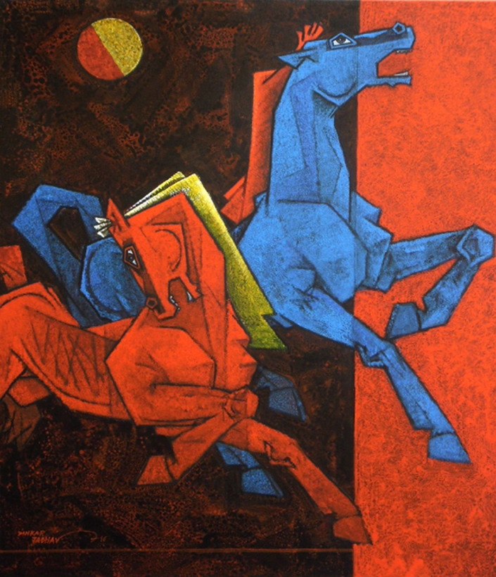 "Dinkar-Jadhav-Two-Horses-36""-x-30""--Abstract-Painting-EK-15-0005-AC-0040.jpg"