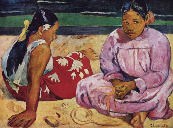 Paul_Gauguin_tahitian women on the beach_1891