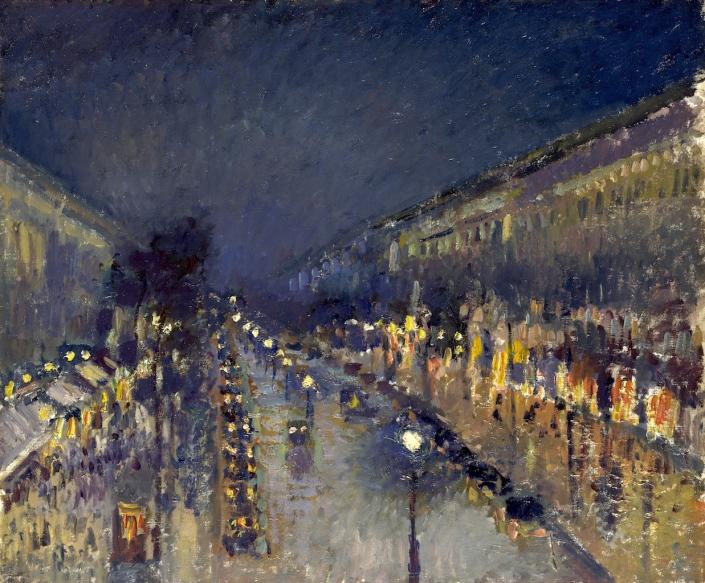 Pissarro_the-boulevard-montmartre_1897