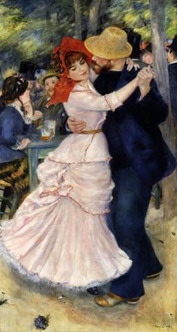 Pierre-Auguste Renoir, Dance at Bougival, 1883, oil on canvas, 182 x 98 cm, Museum of Fine Arts, Boston. www.wga.hu