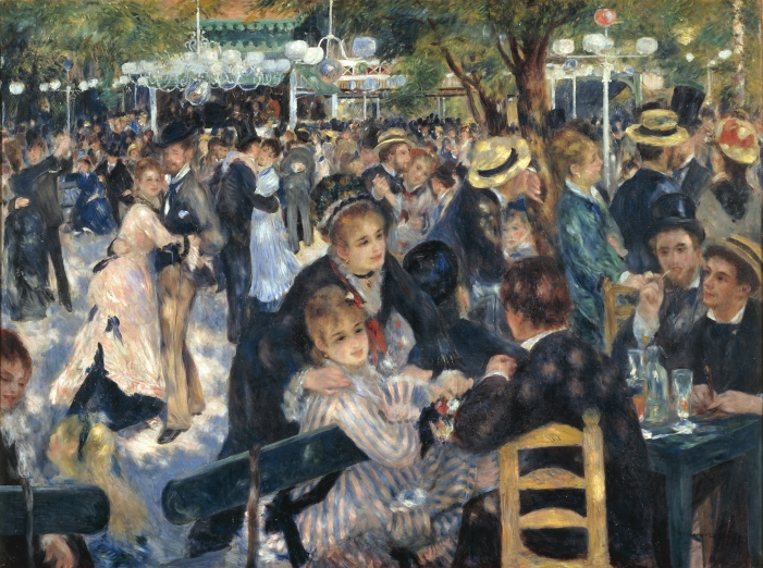 Pierre-Auguste Renoir, La Moulin de la Galette, 1876, oil on canvas, 131 x 175 cm, Musee d'Orsay, Paris, France. Wikipedia.org