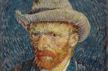 Vincent Van Gogh, Self Portrait with grey felt hat, 1887