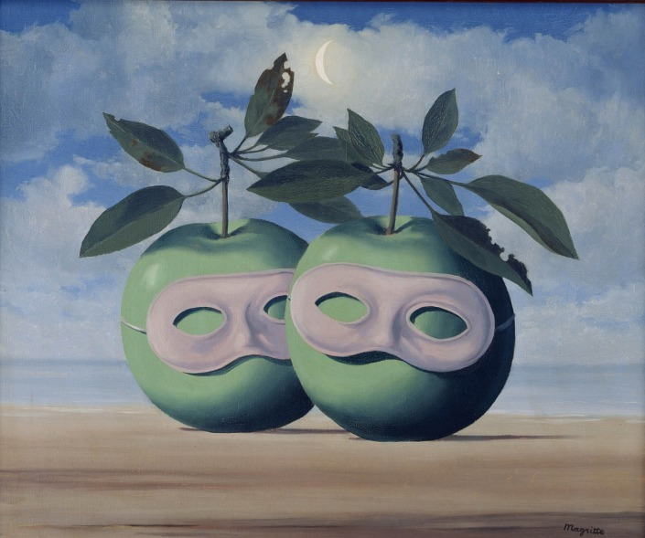 magritte_apples with masks