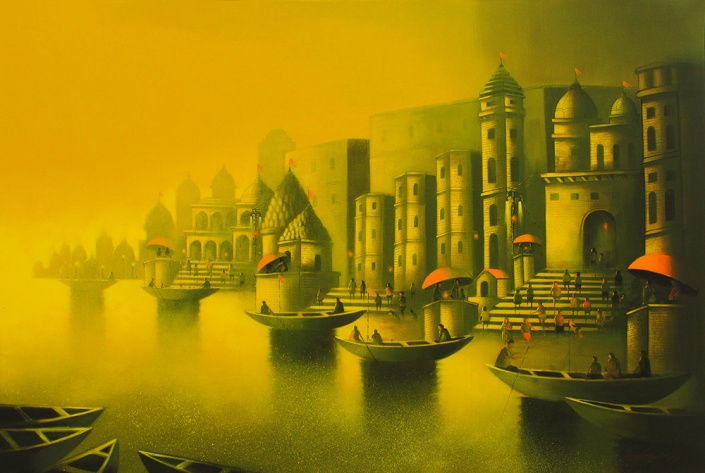 golden-banaras-2-somnath-bothe-painting