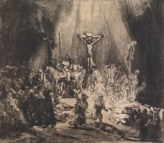 Rembrandt, Christ Crucified between the Two Thieves: The Three Crosses, 1653