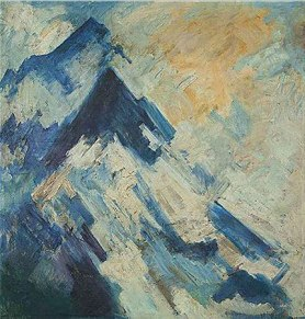 H A Gade, Untitled (Mountainscape), 1982, oil on canvas