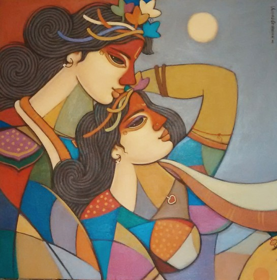 avinash-deshmukh-king-queen-11-acrylic-on-canvas-painting-ek-15-0042-ac-0011-30x30