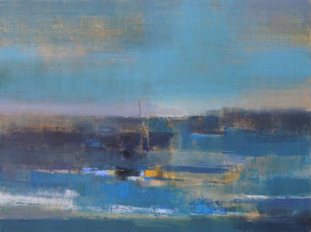 """Anu-Kulkarni-Seascape-40""""-x-30""""-Abstract-Painting-EK-16-0062-OL-0001.JPG"""